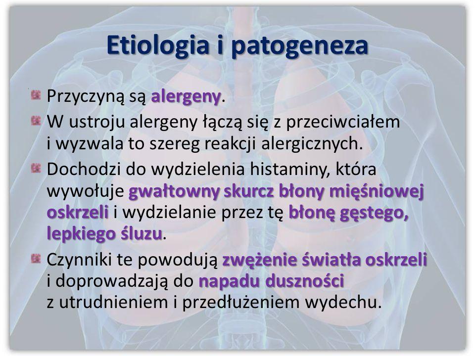 Etiologia i patogeneza alergeny Przyczyną są alergeny.