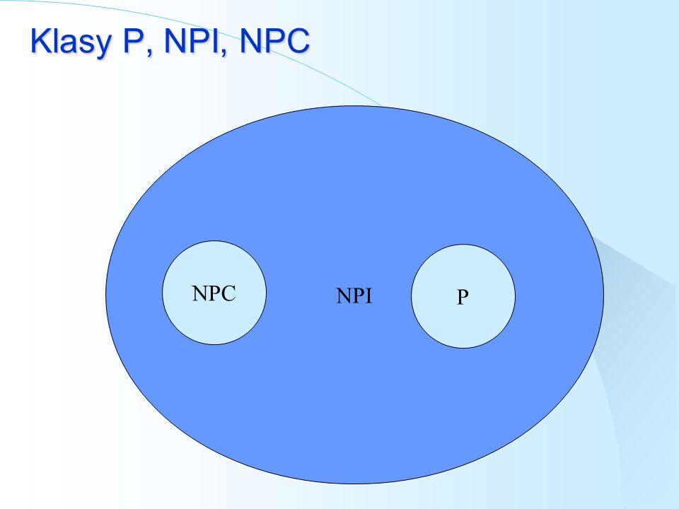 Klasy P, NPI, NPC NPI NPC P