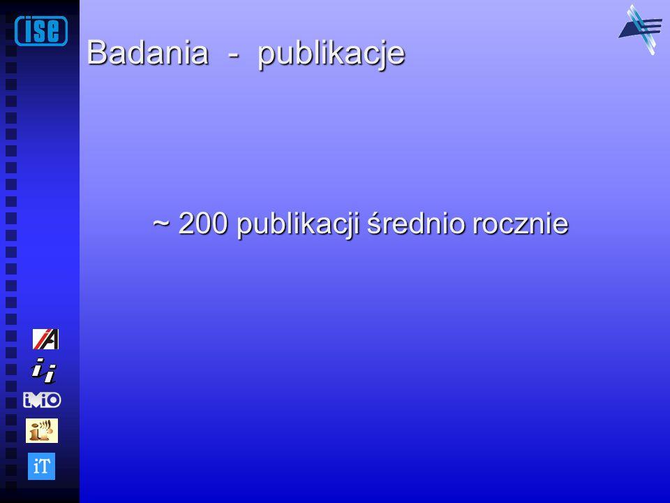Badania - publikacje ~ 200 publikacji średnio rocznie
