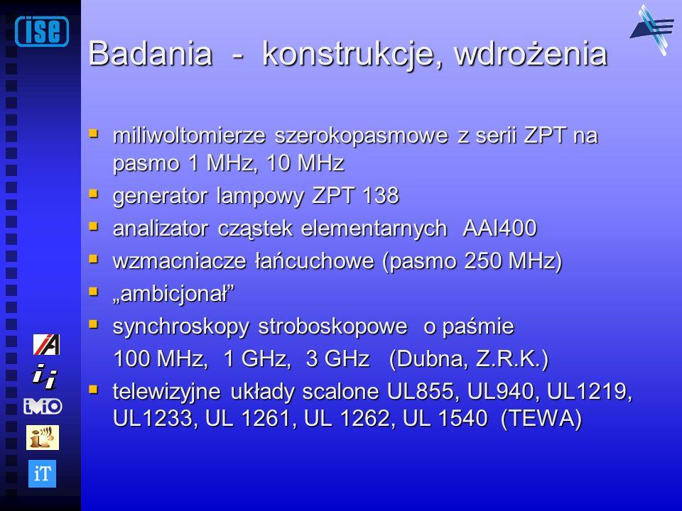 Badania - konstrukcje, wdrożenia miliwoltomierze szerokopasmowe z serii ZPT na pasmo 1 MHz, 10 MHz miliwoltomierze szerokopasmowe z serii ZPT na pasmo