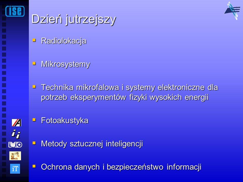 Dzień jutrzejszy Radiolokacja Radiolokacja Mikrosystemy Mikrosystemy Technika mikrofalowa i systemy elektroniczne dla potrzeb eksperymentów fizyki wys