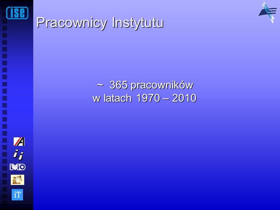 Pracownicy Instytutu ~ 365 pracowników ~ 365 pracowników w latach 1970 – 2010 w latach 1970 – 2010