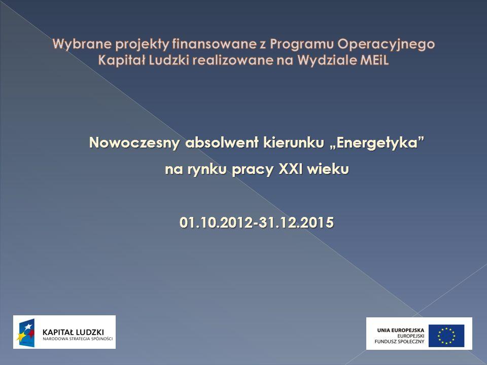 Nowoczesny absolwent kierunku Energetyka na rynku pracy XXI wieku 01.10.2012-31.12.2015