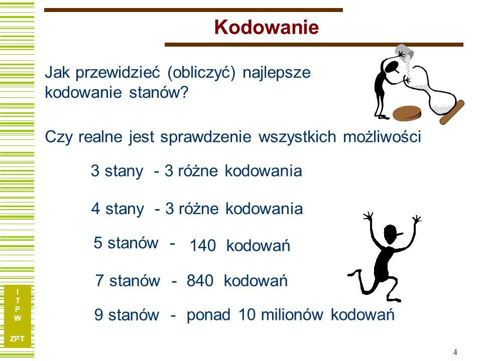 I T P W ZPT 25 Przykład c.d.01 00 10 1/11 2/01 3/10 11 01 11 01 11 00 10 00 10 D clk Graf Rozdz.