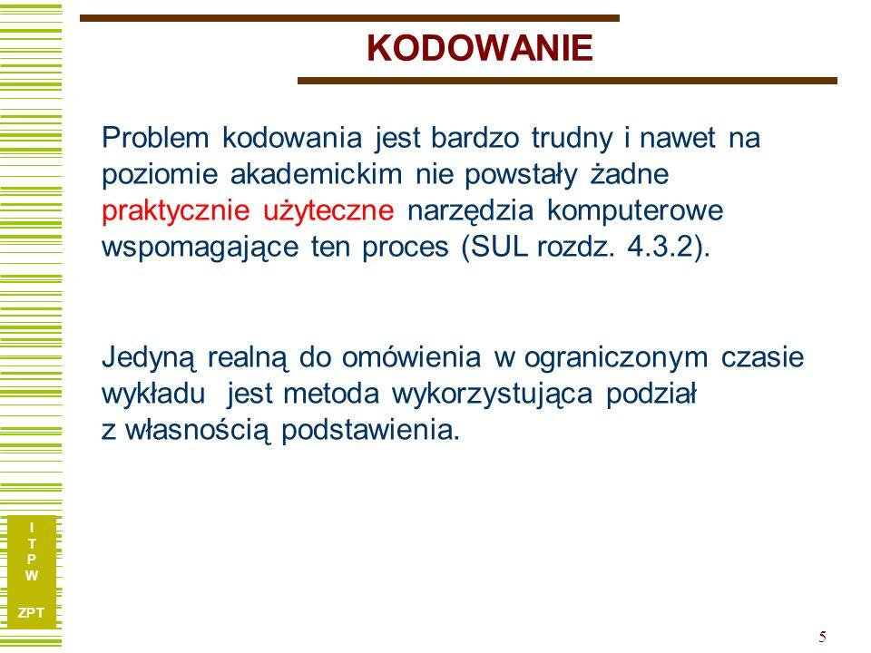 I T P W ZPT 26 Przykład c.d.