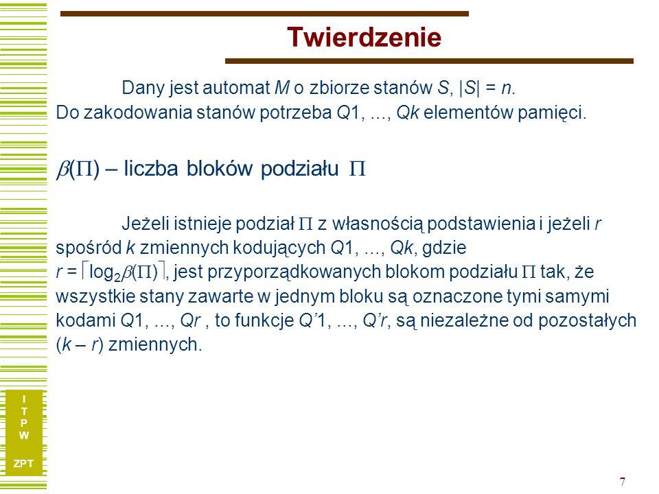 I T P W ZPT 8 Przykład - interpretacja w.p.