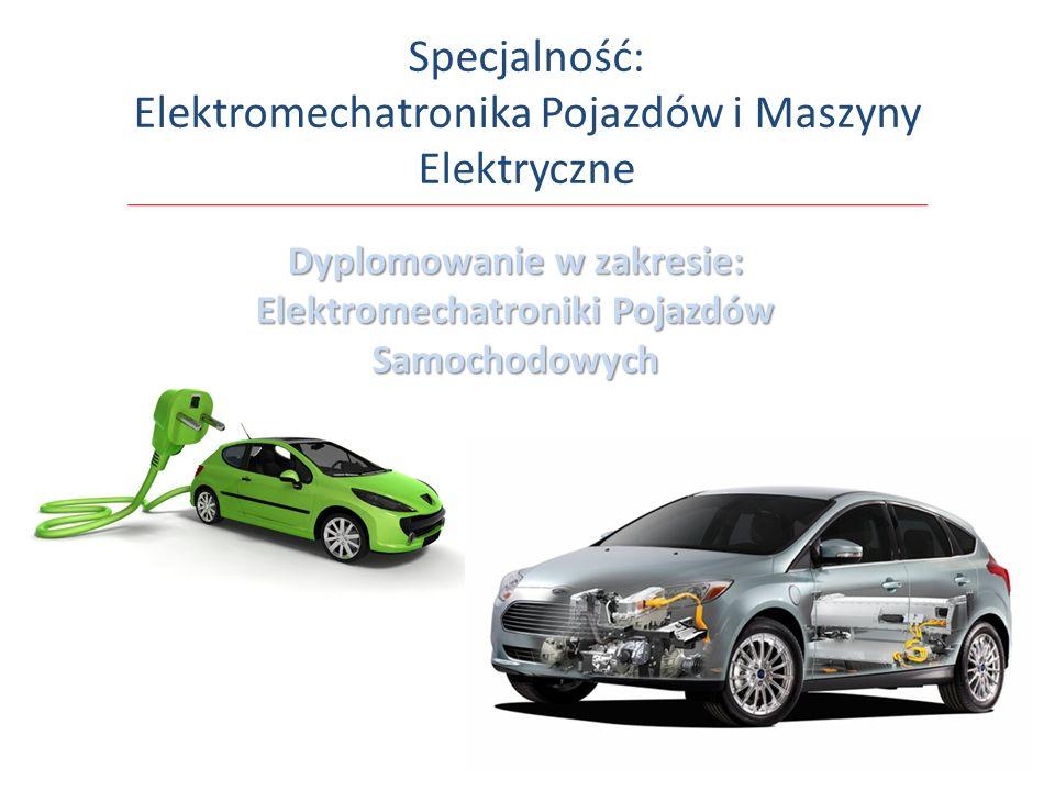 Specjalność: Elektromechatronika Pojazdów i Maszyny Elektryczne Dyplomowanie w zakresie: Elektromechatroniki Pojazdów Samochodowych