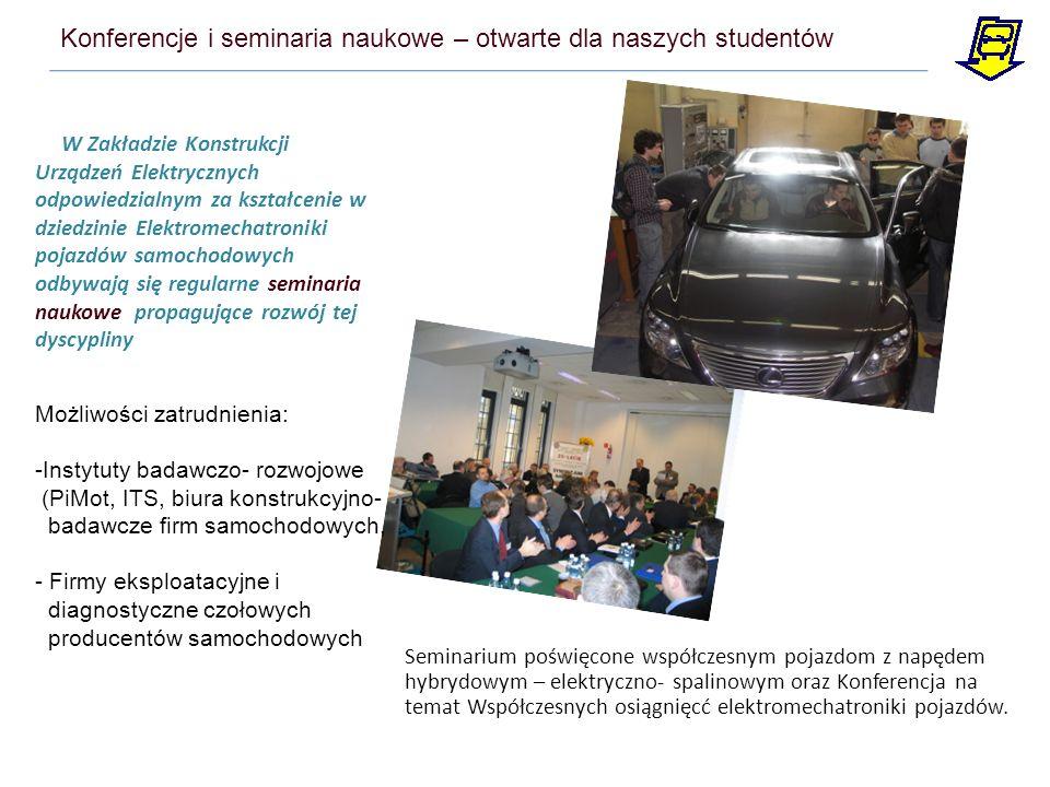 W Zakładzie Konstrukcji Urządzeń Elektrycznych odpowiedzialnym za kształcenie w dziedzinie Elektromechatroniki pojazdów samochodowych odbywają się reg
