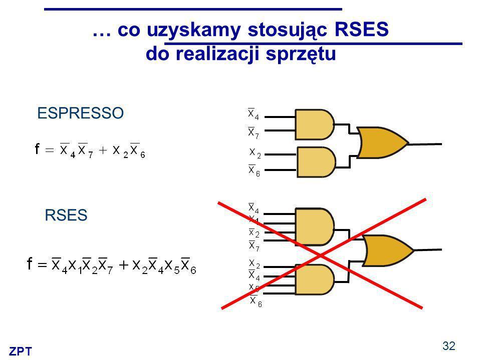 ZPT 32 … co uzyskamy stosując RSES do realizacji sprzętu RSES ESPRESSO