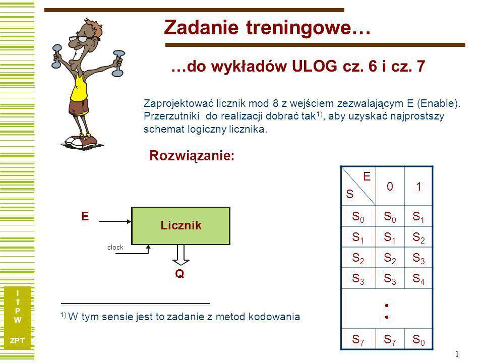 I T P W ZPT 1 Zadanie treningowe… …do wykładów ULOG cz.