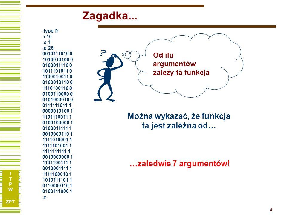 I T P W ZPT 14 Redukcja argumentów – przykład c.d.