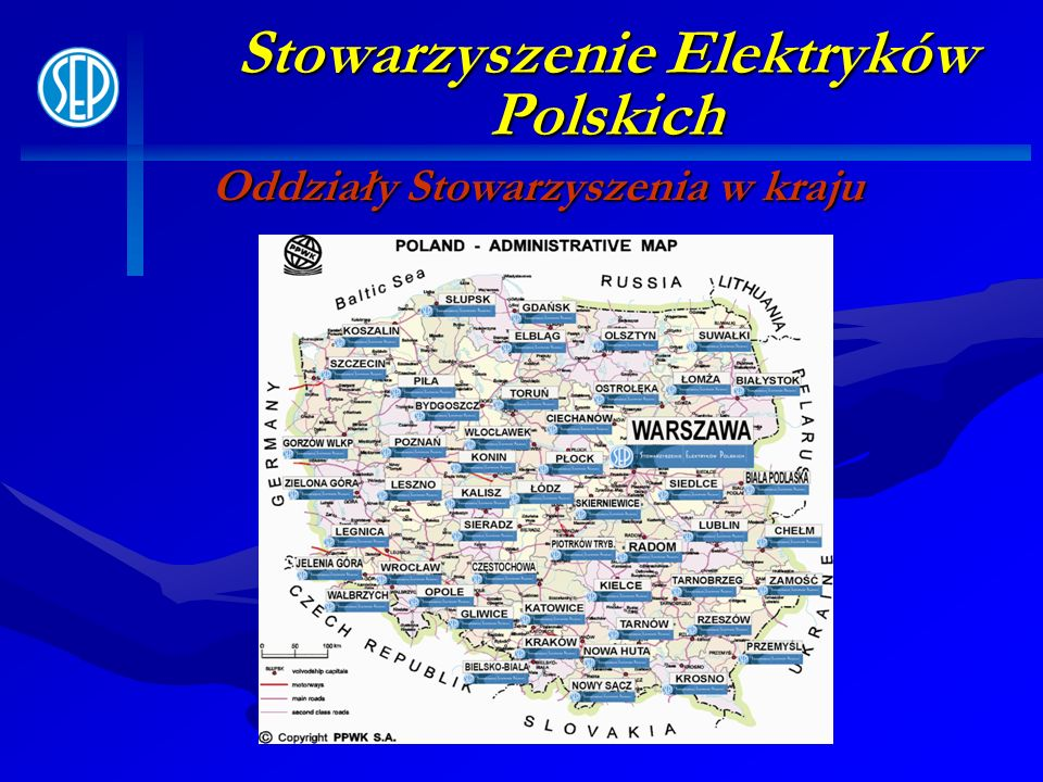 Stowarzyszenie Elektryków Polskich Oddziały Stowarzyszenia w kraju