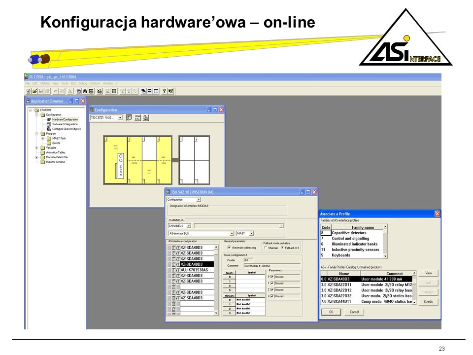 23 Konfiguracja hardwareowa – on-line