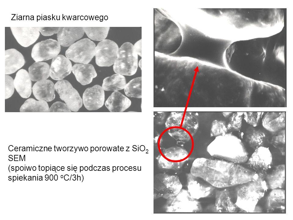Ceramiczne tworzywo porowate z elektrokorundu 1300 o C/3h Ziarna elektrokorundu