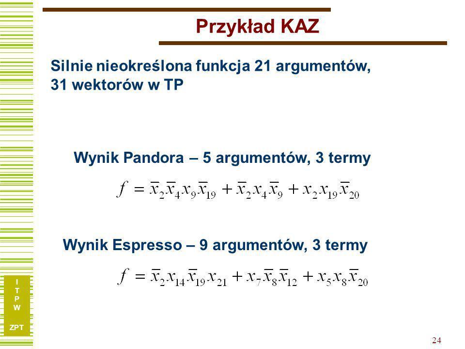 I T P W ZPT 23 Funkcja KAZ.type fr.i 21.o 1.p 31 100110010110011111101 1 111011111011110111100 1 001010101000111100000 1 001001101100110110001 1 10011