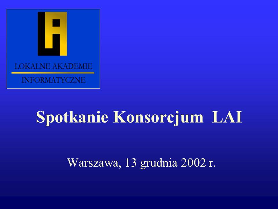 Spotkanie Konsorcjum LAI Warszawa, 13 grudnia 2002 r.