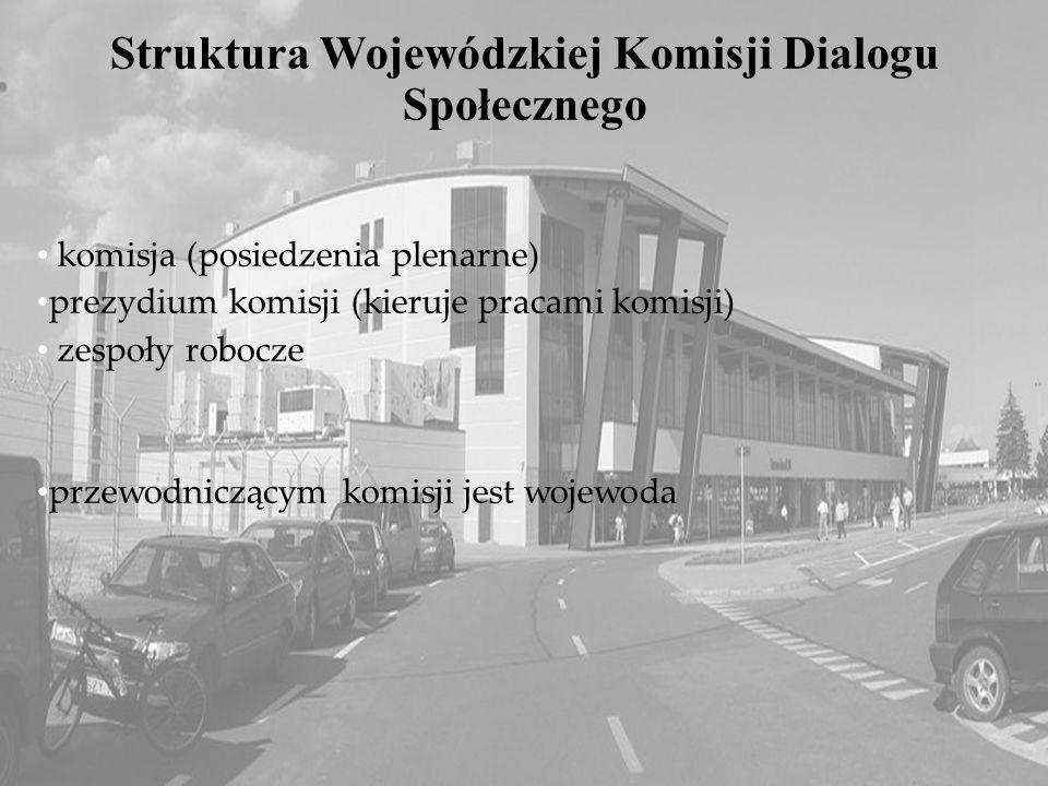 5 Pyrzowice Airport Struktura Wojewódzkiej Komisji Dialogu Społecznego komisja (posiedzenia plenarne) prezydium komisji (kieruje pracami komisji) zesp