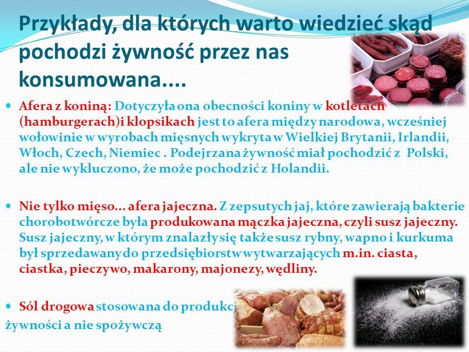 Nie tylko żywność, ale towary wyroby lokalne...przedsiębiorstwa....