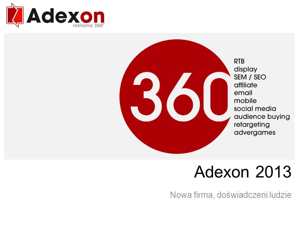Marketing 360 w Internecie Adexon 2013 Nowa firma, doświadczeni ludzie