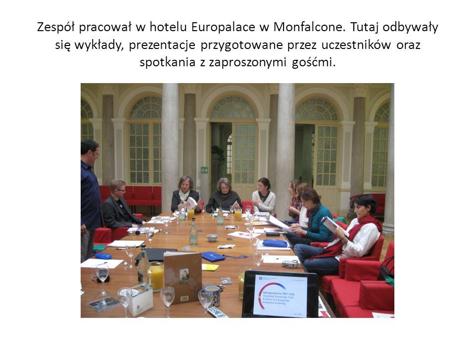 Giorgia Costalonga była organizatorką i koordynowała prace naszej grupy.