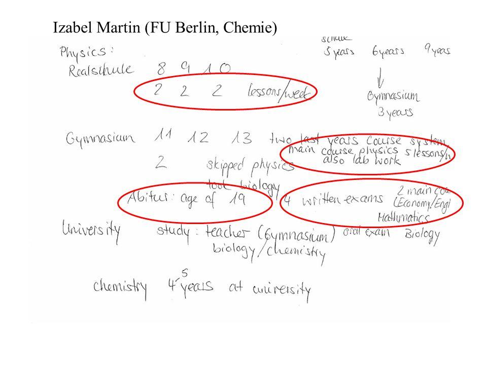 Izabel Martin (FU Berlin, Chemie)
