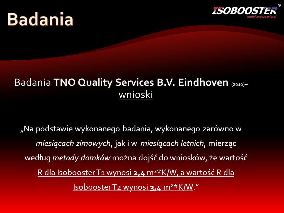 Badania TNO Quality Services B.V.