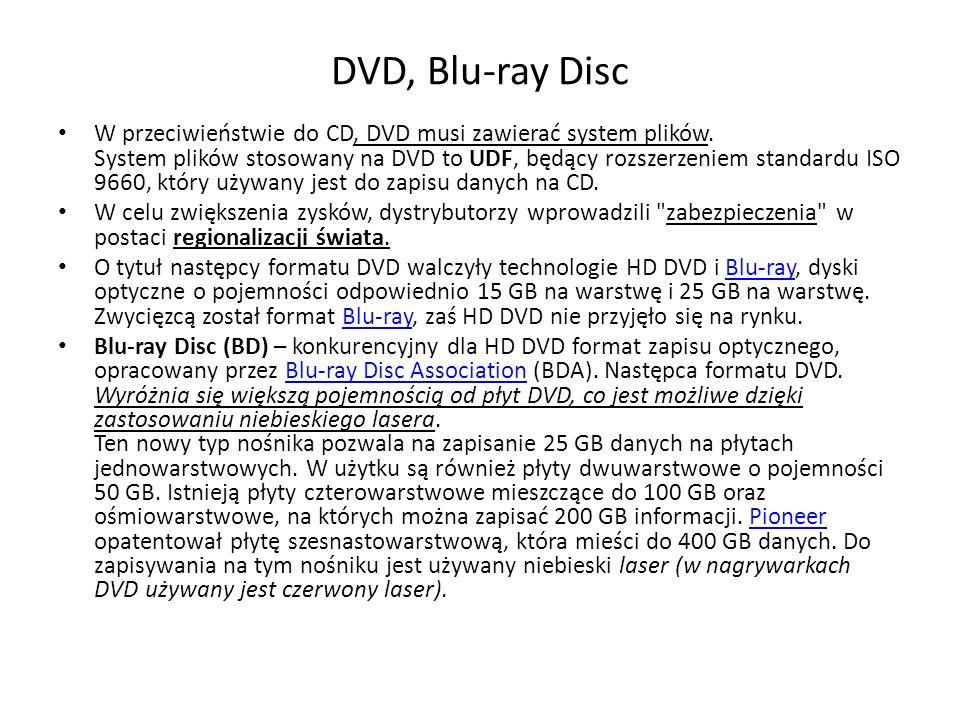 DVD, Blu-ray Disc W przeciwieństwie do CD, DVD musi zawierać system plików.