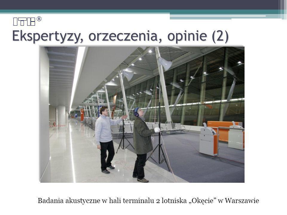 ® Ekspertyzy, orzeczenia, opinie (2) Badania akustyczne w hali terminalu 2 lotniska Okęcie w Warszawie