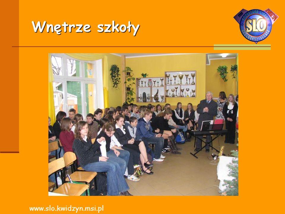 Wnętrze szkoły www.slo.kwidzyn.msi.pl