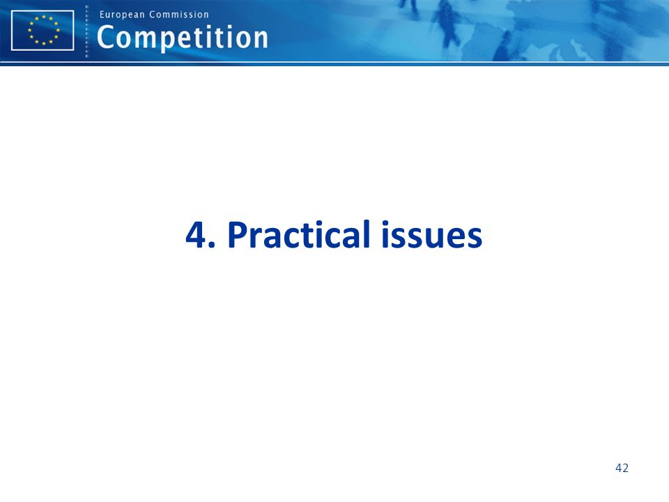 4. Practical issues 42