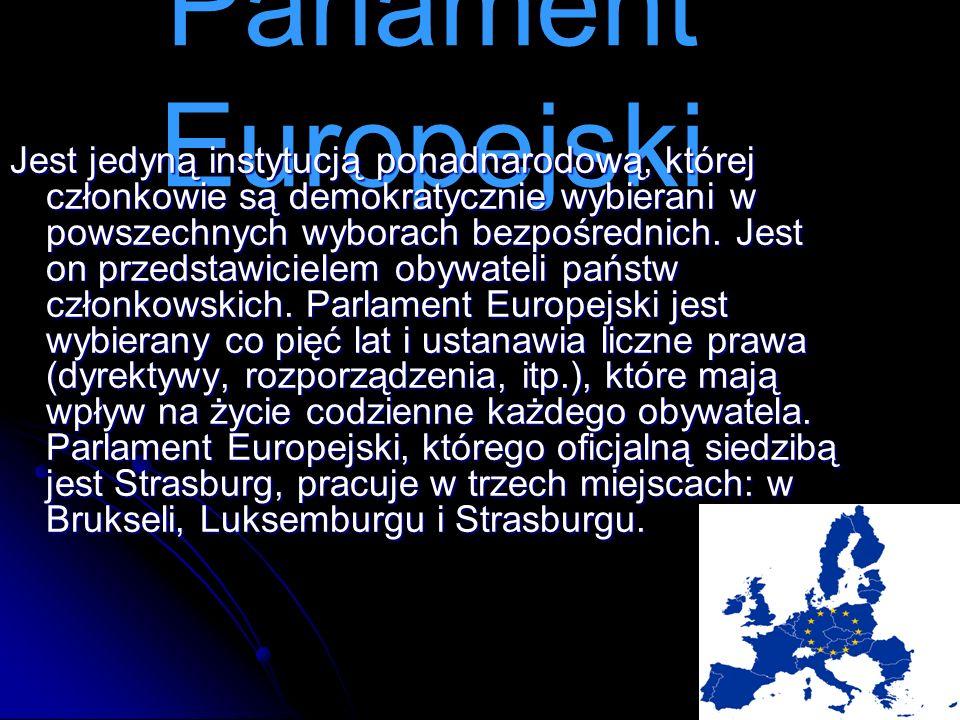 Jest jedyną instytucją ponadnarodową, której członkowie są demokratycznie wybierani w powszechnych wyborach bezpośrednich. Jest on przedstawicielem ob