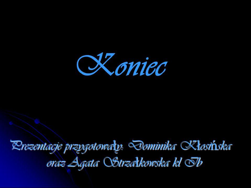 Koniec Prezentacje przygotowa ł y: Dominika K ł osi ń ska oraz Agata Strza ł kowska kl Ib