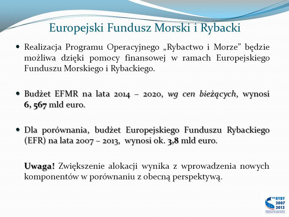 Europejski Fundusz Morski i Rybacki Realizacja Programu Operacyjnego Rybactwo i Morze będzie możliwa dzięki pomocy finansowej w ramach Europejskiego F