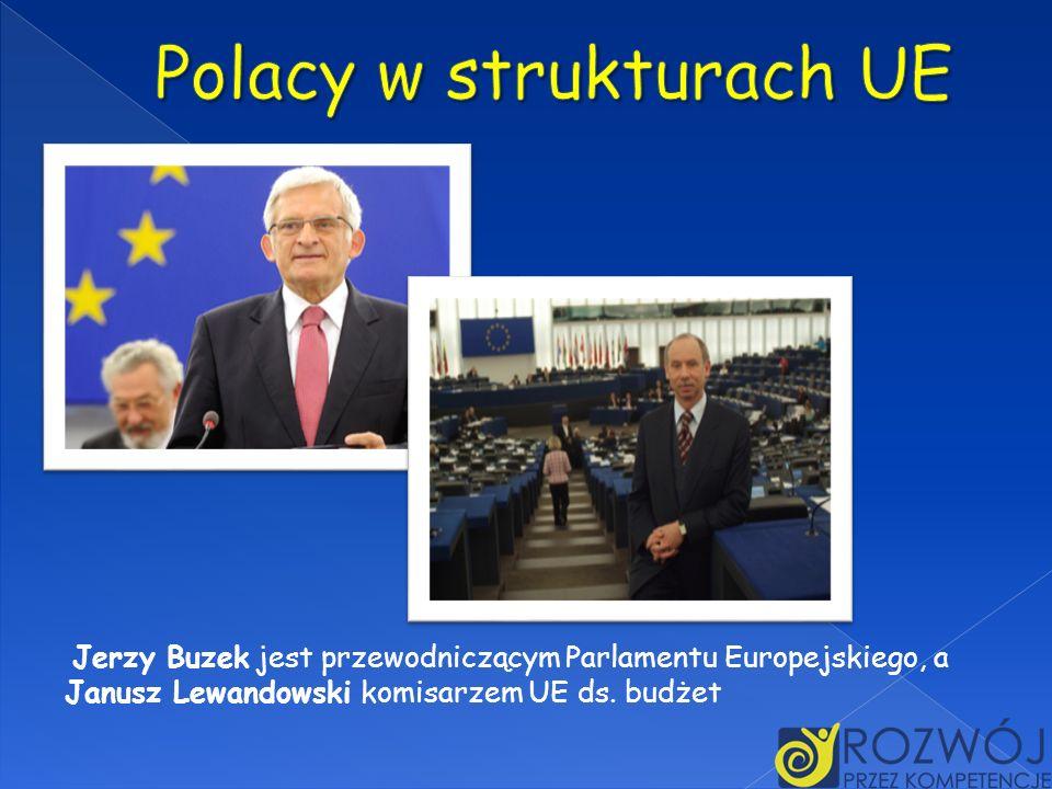 Jerzy Buzek jest przewodniczącym Parlamentu Europejskiego, a Janusz Lewandowski komisarzem UE ds. budżet