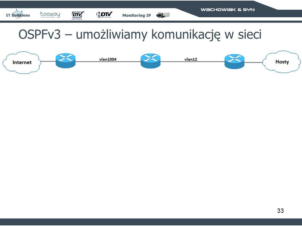 33 OSPFv3 – umożliwiamy komunikację w sieci