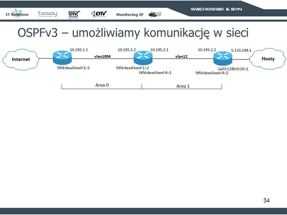 34 OSPFv3 – umożliwiamy komunikację w sieci