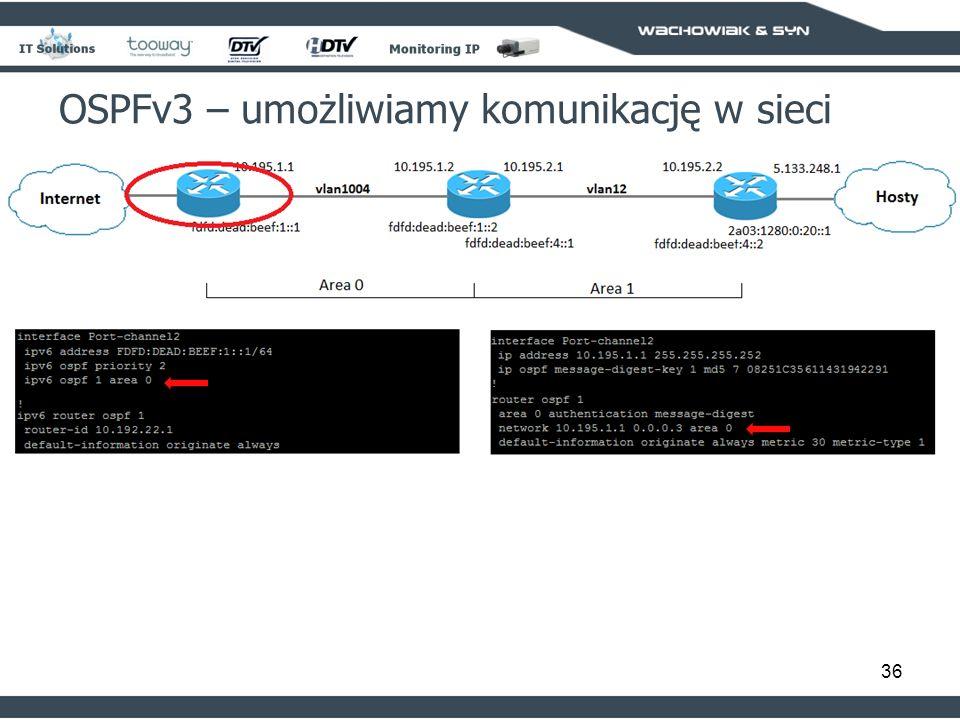 36 OSPFv3 – umożliwiamy komunikację w sieci