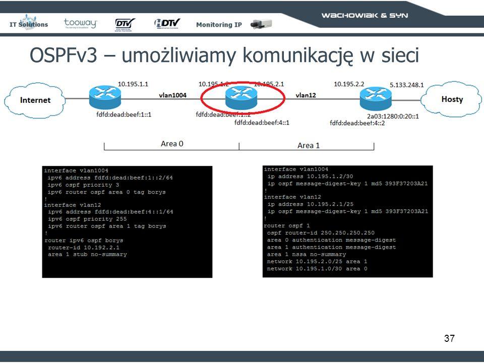 37 OSPFv3 – umożliwiamy komunikację w sieci