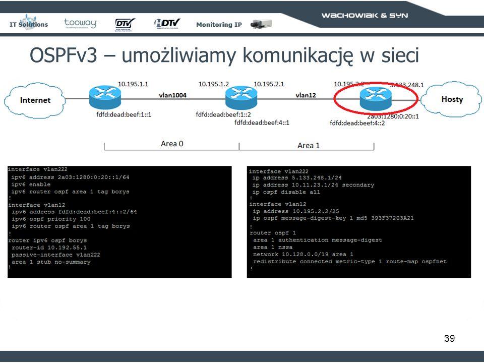 39 OSPFv3 – umożliwiamy komunikację w sieci