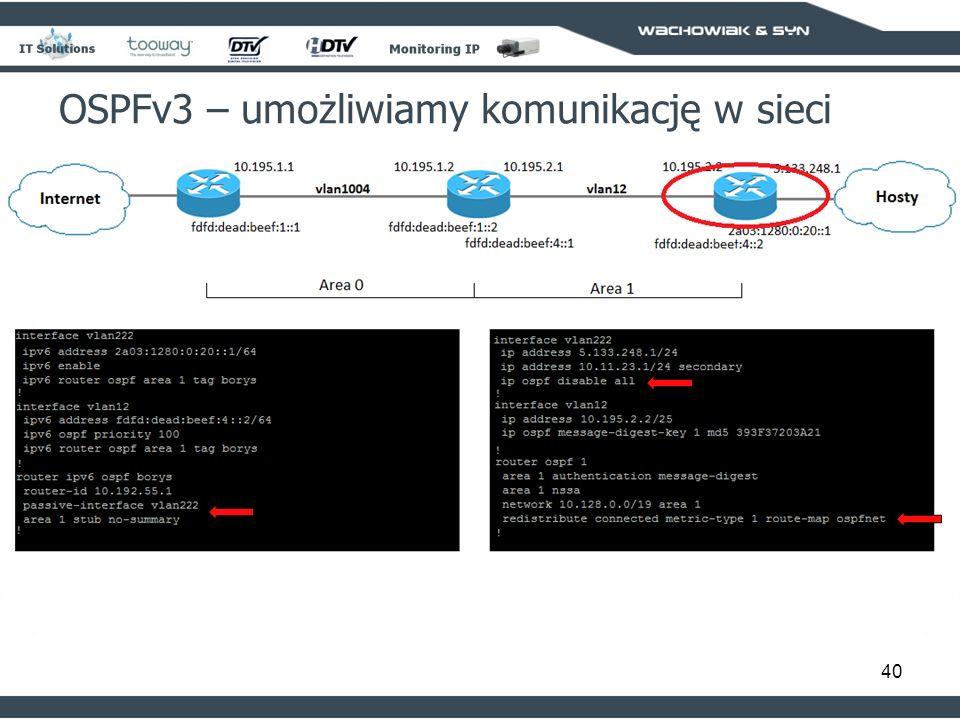 40 OSPFv3 – umożliwiamy komunikację w sieci