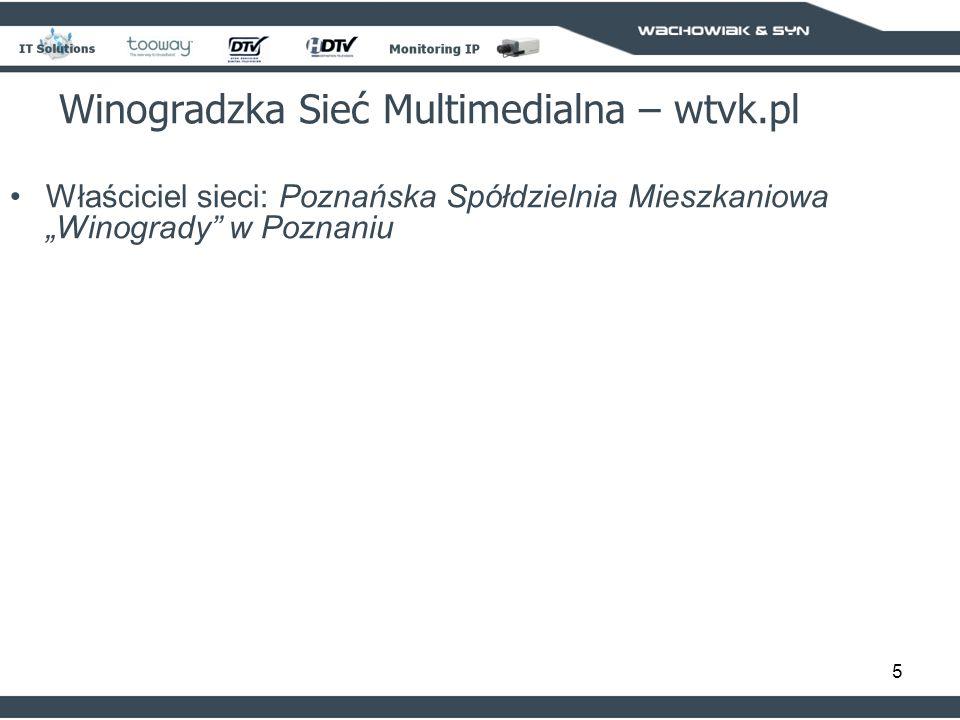 5 Właściciel sieci: Poznańska Spółdzielnia Mieszkaniowa Winogrady w Poznaniu Winogradzka Sieć Multimedialna – wtvk.pl