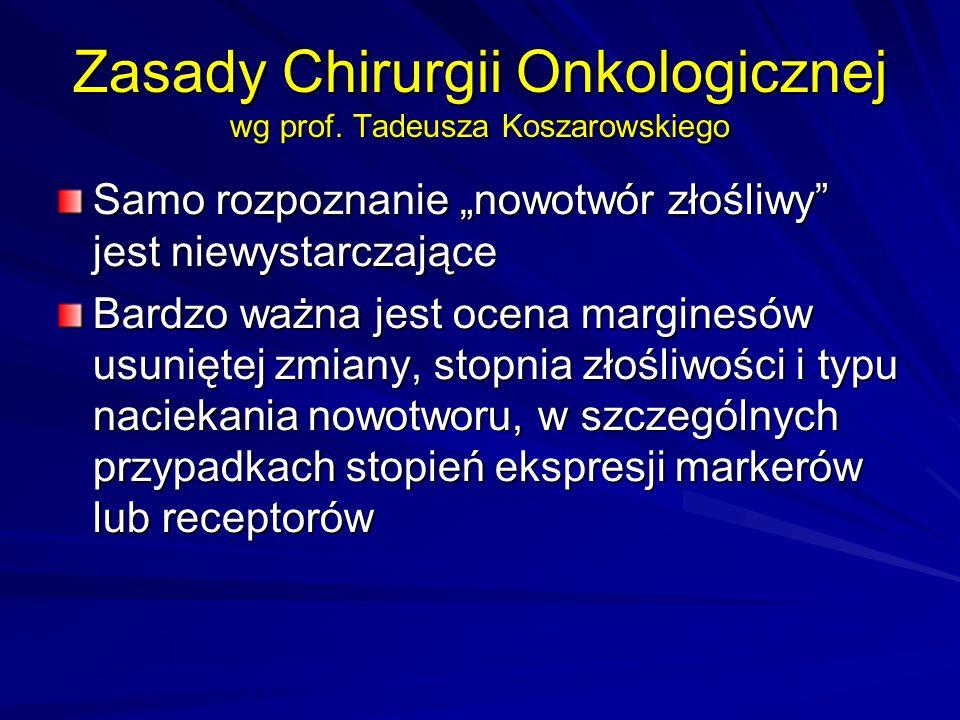 Zasady Chirurgii Onkologicznej wg prof.