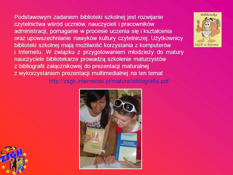 Podstawowym zadaniem biblioteki szkolnej jest rozwijanie czytelnictwa wśród uczniów, nauczycieli i pracowników administracji, pomaganie w procesie ucz