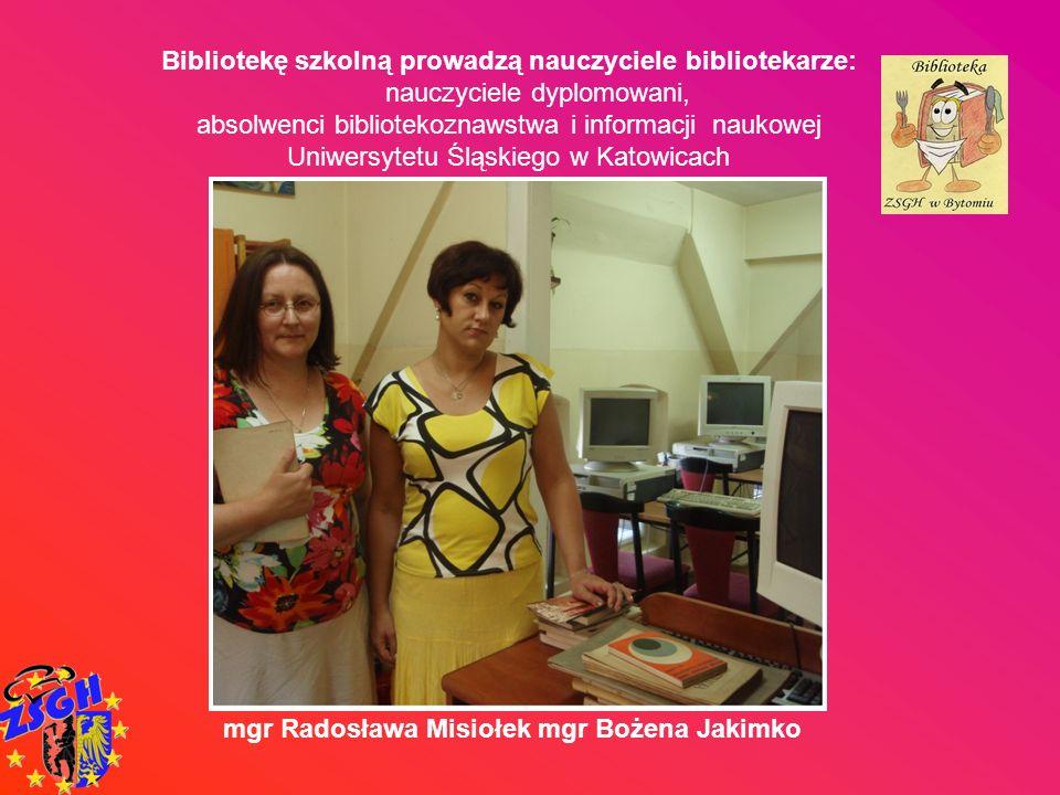 Bibliotekę szkolną prowadzą nauczyciele bibliotekarze: nauczyciele dyplomowani, absolwenci bibliotekoznawstwa i informacji naukowej Uniwersytetu Śląsk