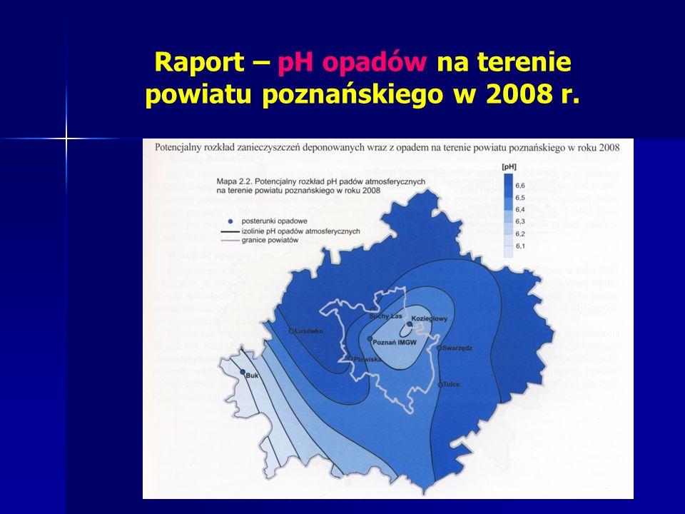 Raport – pH opadów na terenie powiatu poznańskiego w 2008 r.