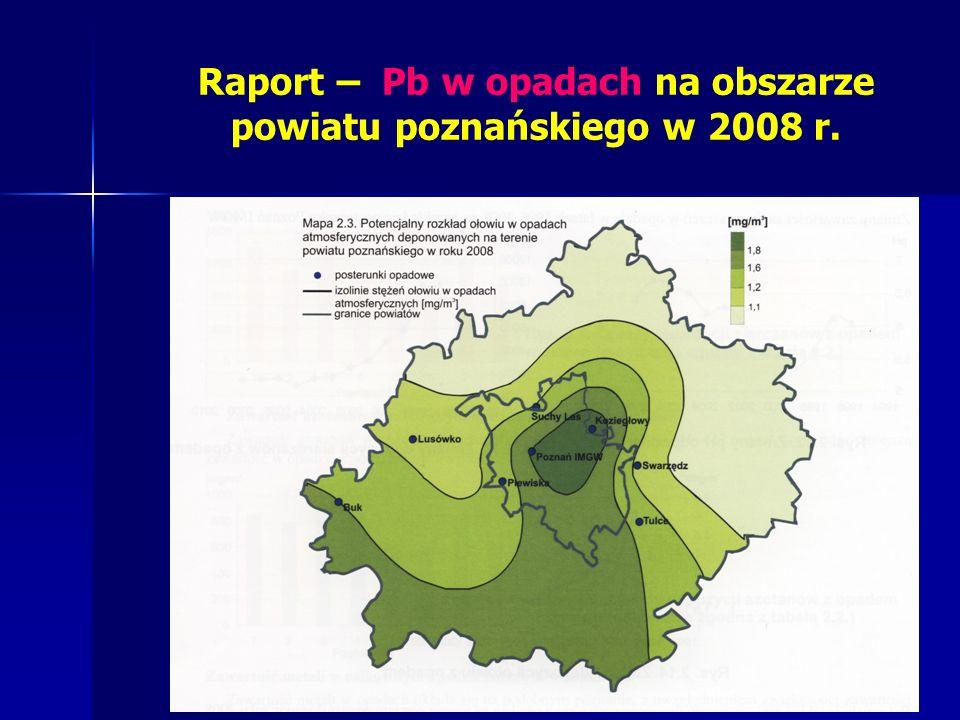 Raport – Pb w opadach na obszarze powiatu poznańskiego w 2008 r.