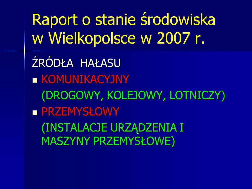 Raport o stanie środowiska w Wielkopolsce w 2007 r.