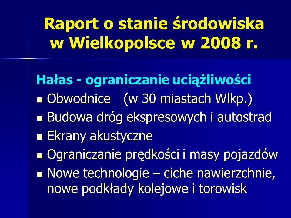 Raport o stanie środowiska w Wielkopolsce w 2008 r.