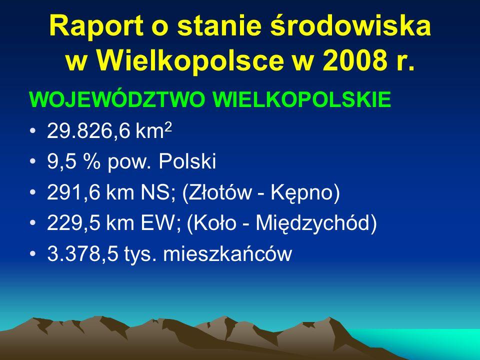 Raport – siarczany w opadach na obszarze powiatu poznańskiego w 2008 r.