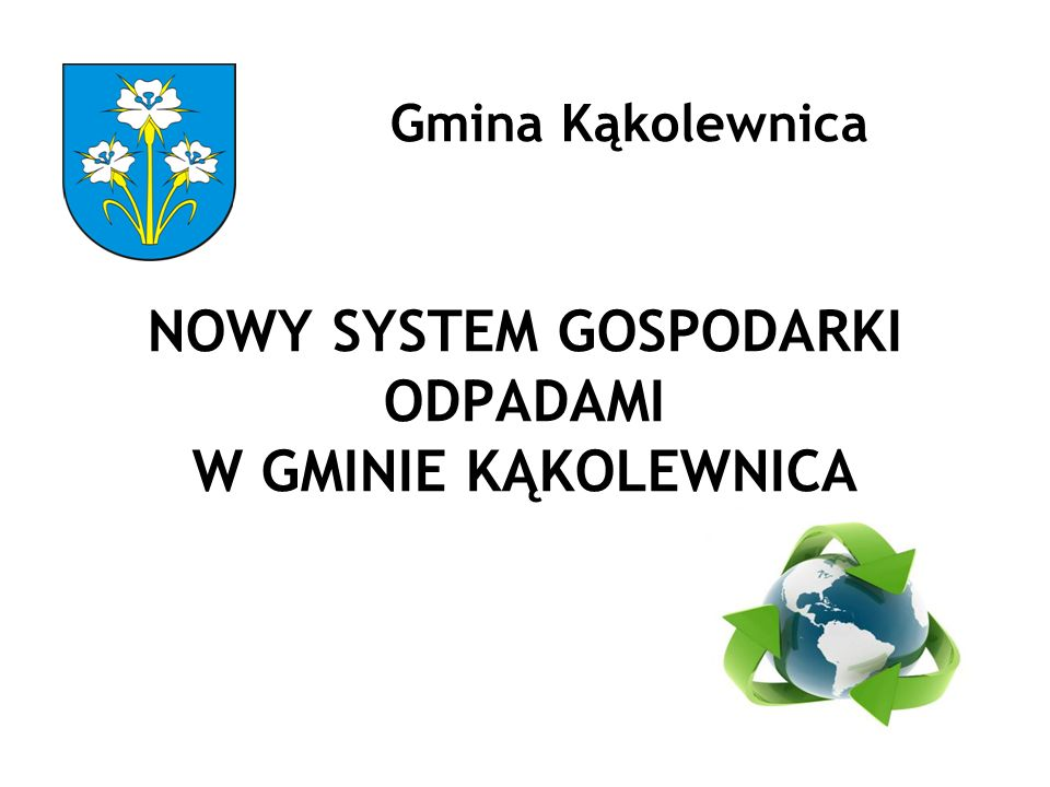 Gmina Kąkolewnica NOWY SYSTEM GOSPODARKI ODPADAMI W GMINIE KĄKOLEWNICA